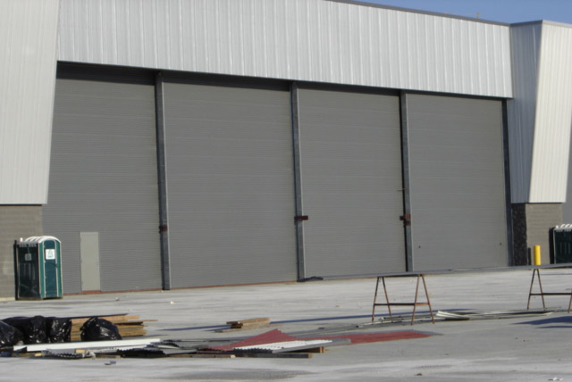 Hangar door solutions steel sliding doors